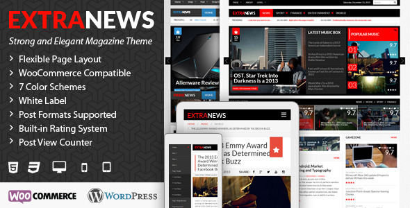 ExtraNews - Responsive WP News/Magazine/Blog - News / Editorial Blog / Magazine