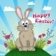 Greeting Easter Card with Bunny - GraphicRiver Item for Sale