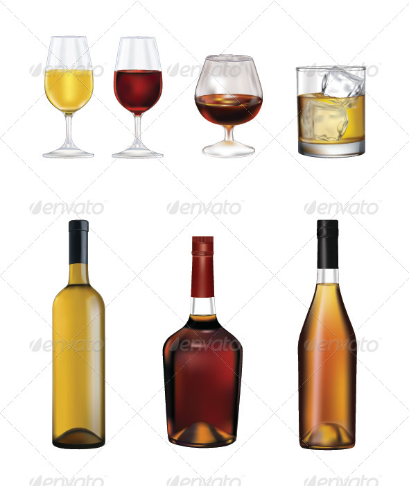 GraphicRiver Bottles and Glasses 7031360