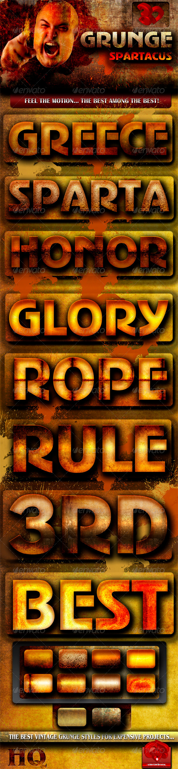 GraphicRiver Grunge Spartacus Text Styles 736485