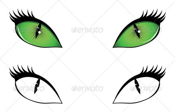 GraphicRiver Cartoon Cat Eyes 7032149