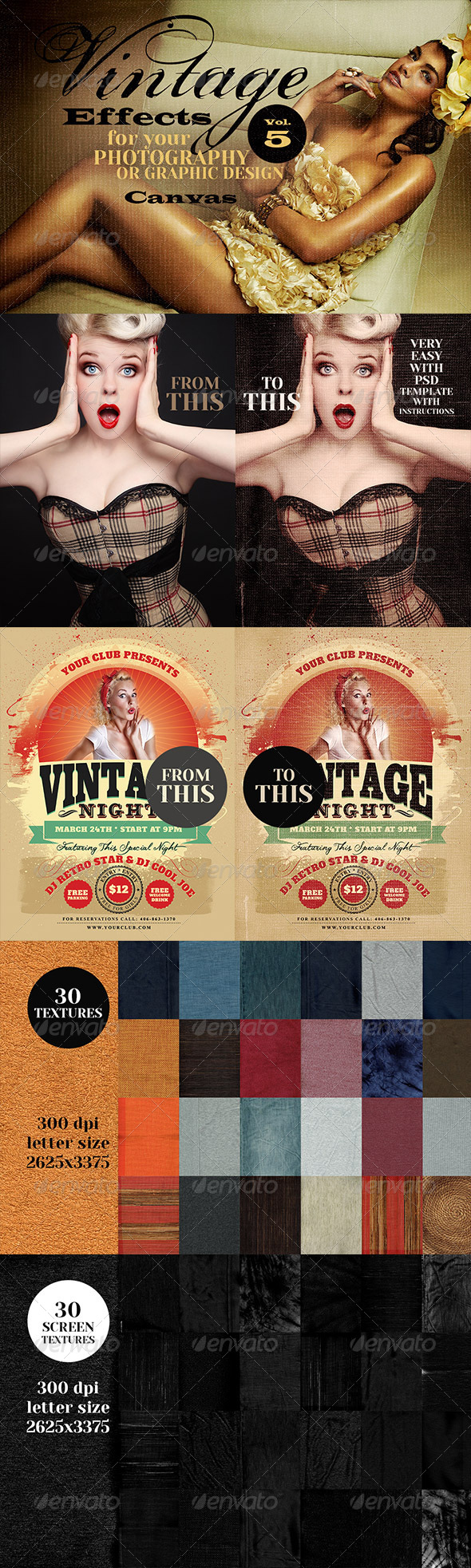 GraphicRiver Vintage Effects for Photo Designs 5 7032244