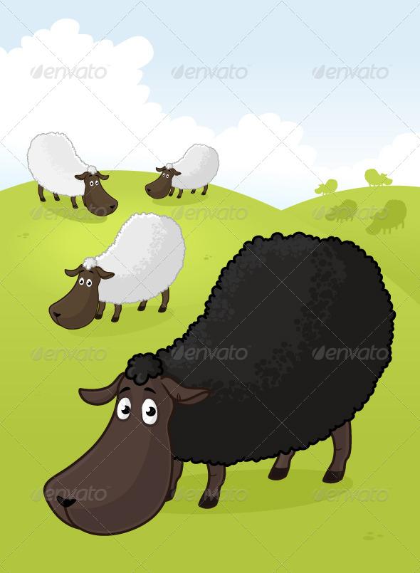 GraphicRiver Black Sheep 7032376