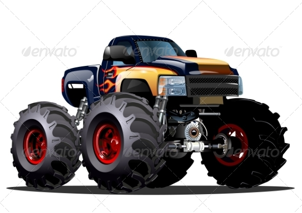 GraphicRiver Cartoon Monster Truck 7032524