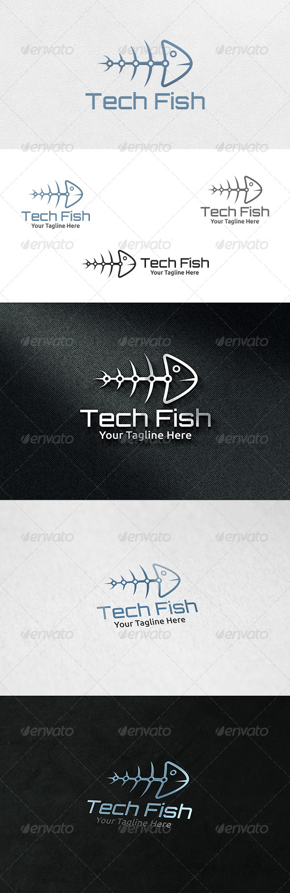 GraphicRiver Tech Fish Logo Template 7032535