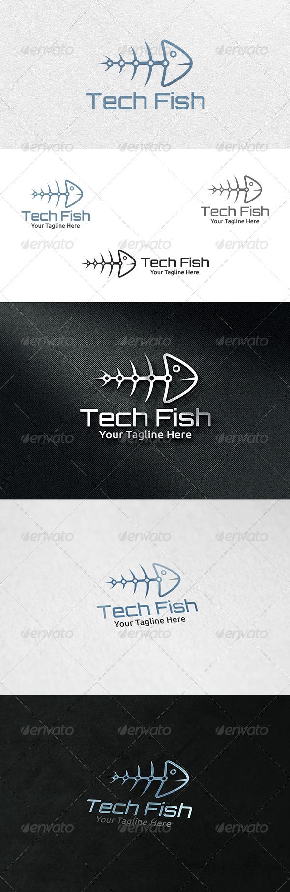 GraphicRiver Tech Fish Logo Template 7032535