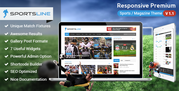 Sportsline - Responsive Sports News Theme - News / Editorial Blog / Magazine
