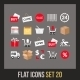 Flat Icons Set - GraphicRiver Item for Sale