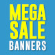 E-Commerce Banners For Mega Sale - GraphicRiver Item for Sale