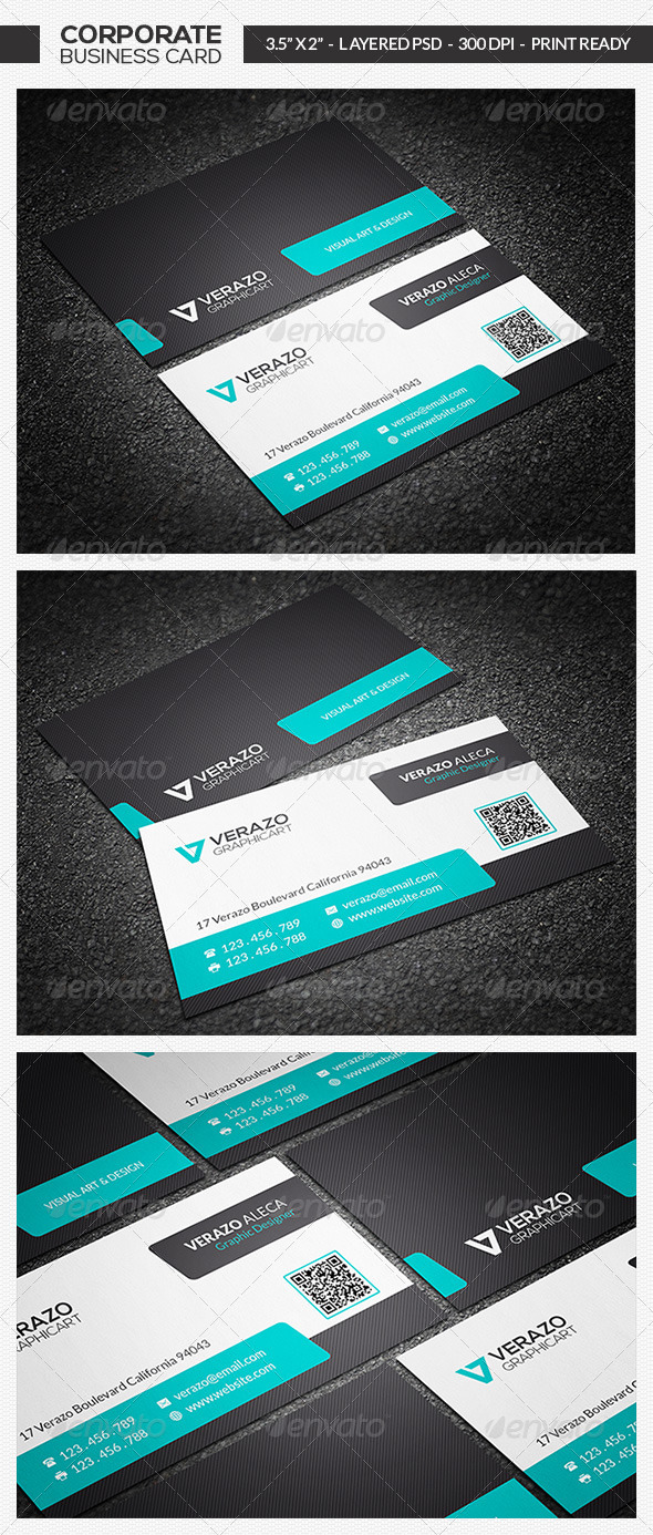 GraphicRiver Modern Business Card 04 7033877