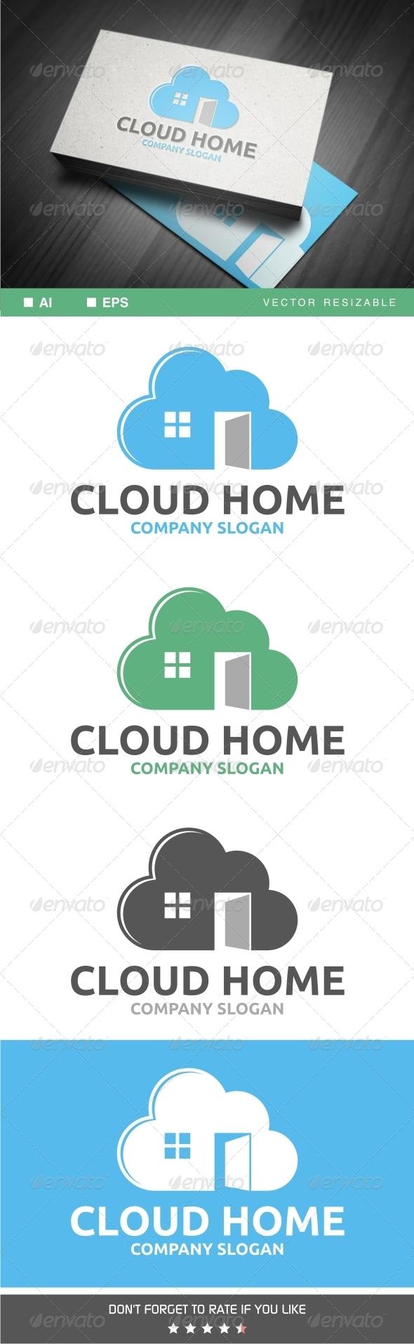 GraphicRiver Cloud Home Logo 7033960