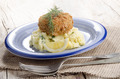 irish salmon fishcake with champ - PhotoDune Item for Sale