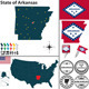 Map of State Arkansas USA - GraphicRiver Item for Sale