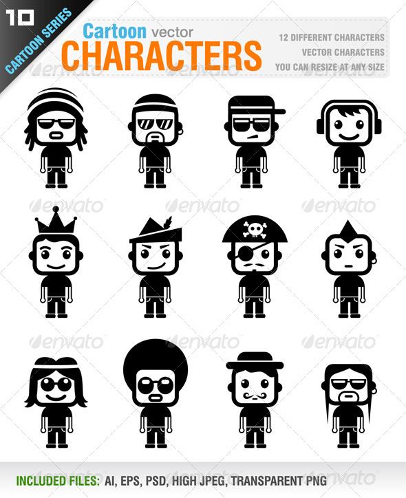 GraphicRiver Cartoon Characters 7034945