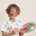 messy kid with paint pallete - PhotoDune Item for Sale