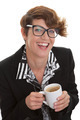 casual business woman with coffee. - PhotoDune Item for Sale