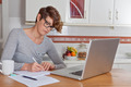 woman working or blogging in home office. - PhotoDune Item for Sale