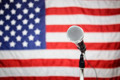 American Flag and microphone - PhotoDune Item for Sale