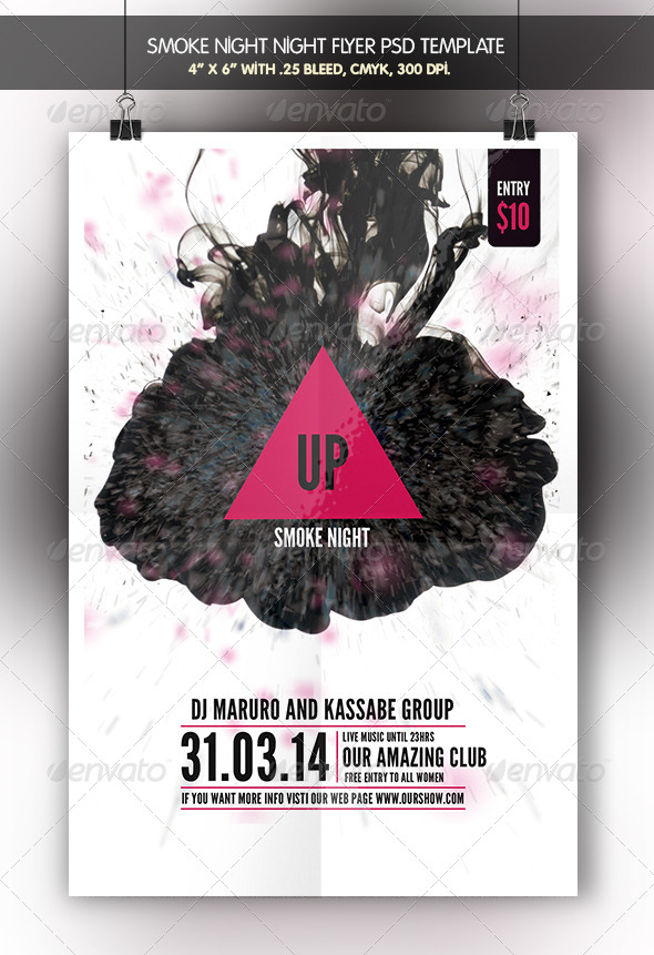 GraphicRiver Smoke Night Flyer Template 7035336
