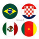 Group A - Brazil, Croacia, Mexico, Cameroon - PhotoDune Item for Sale