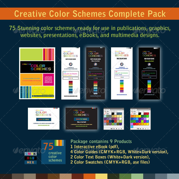 GraphicRiver 75 Color Schemes Swatches and Color Guides 7035589