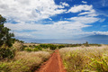 Maui hillside with dry grasses and dirt road - PhotoDune Item for Sale
