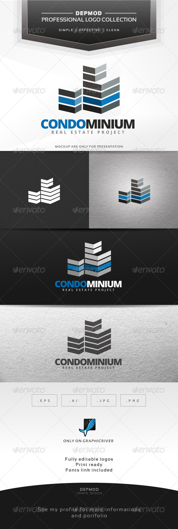 GraphicRiver Condominium Logo 7036241