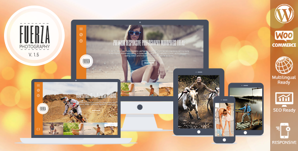 Fuerza Responsive WordPress Theme - Photography Creative