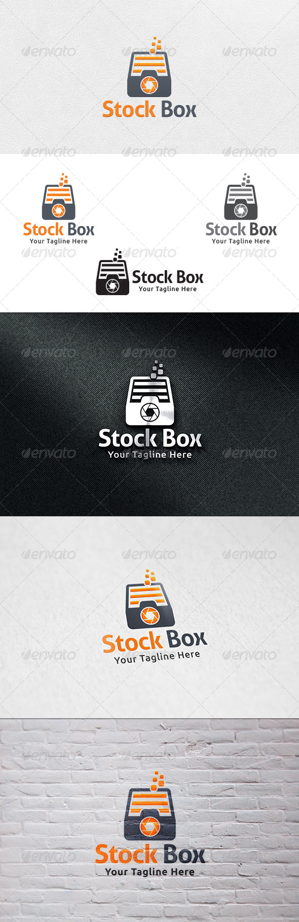 GraphicRiver Stock Box Logo Template 7036256