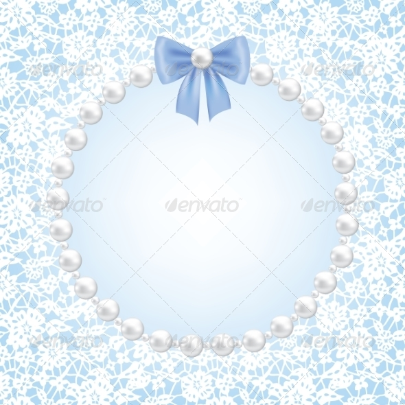 GraphicRiver Lace Floral Frame 7037112