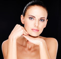 Beautiful   face of the adult woman with fresh skin - PhotoDune Item for Sale