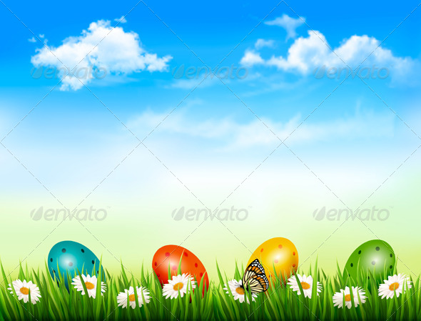 GraphicRiver Easter Background 7039982