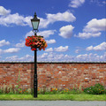 Brick Wall with Street Light - PhotoDune Item for Sale