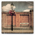 Red Brick Wall and Street Light - PhotoDune Item for Sale