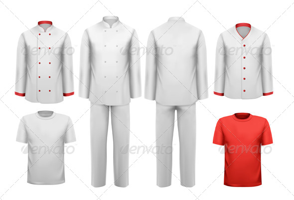 GraphicRiver Set of Various Work Clothes 7040011