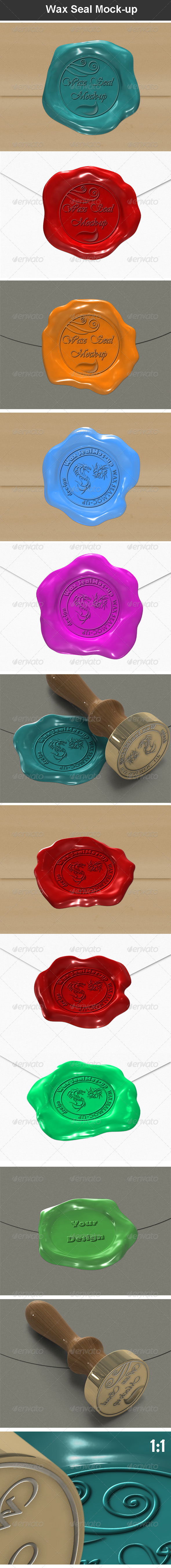 GraphicRiver Wax Seal Mock-up 7029787