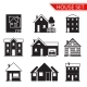 House Silhouette Iicons Set - GraphicRiver Item for Sale