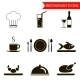 Restaurant Silhouette Icons Set - GraphicRiver Item for Sale