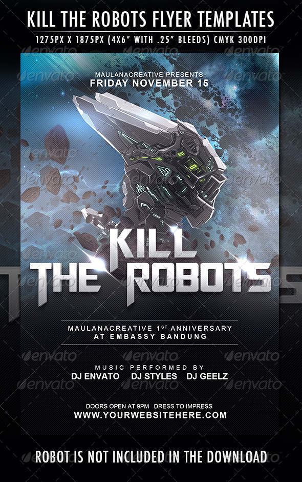 GraphicRiver Kill the Robots Flyer Template 6975298