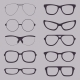 Set of Glasses Silhouettes - GraphicRiver Item for Sale