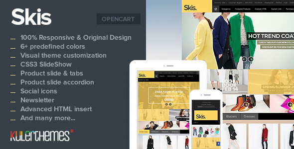 ThemeForest Skis Trendy Opencart theme for online store 7041075