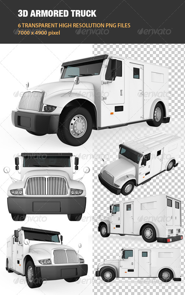 GraphicRiver 3D Armored Truck 7041206