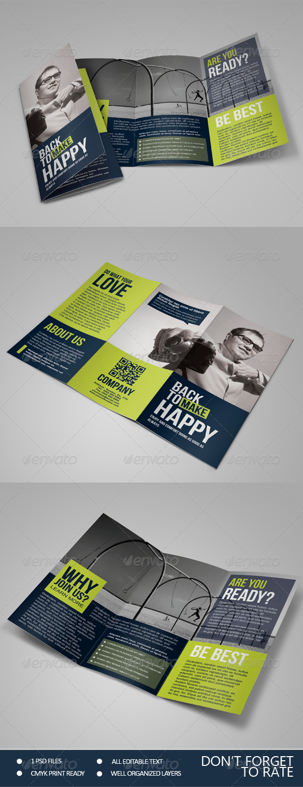 GraphicRiver Happy Multipurpose Trifold Brochure 7041474