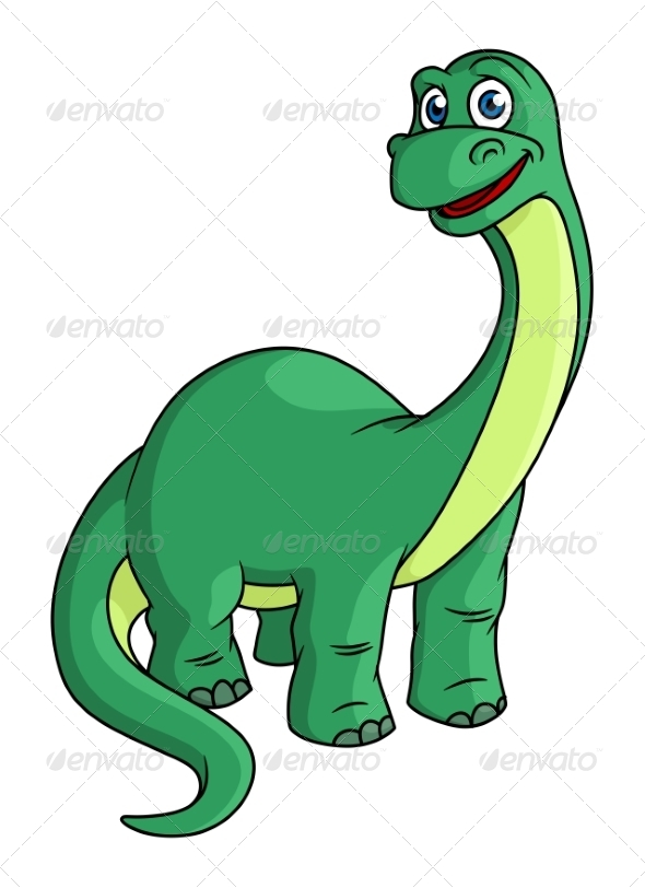 GraphicRiver Green Cartoon Dinosaur Mascot 7041570