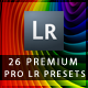 26 Premium Pro Lightroom Presets - GraphicRiver Item for Sale