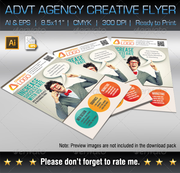 GraphicRiver Advertising Agency Creative Flyer 7041762