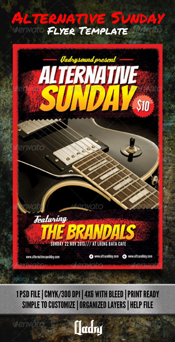GraphicRiver Alternative Sunday Flyer Template 7017995