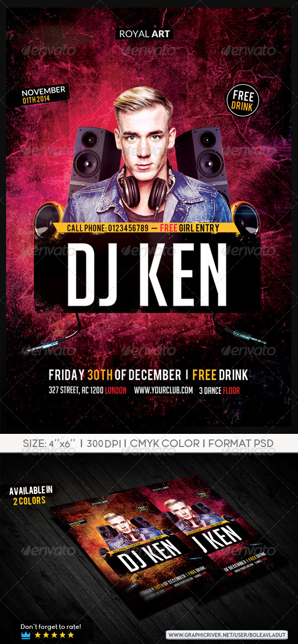 GraphicRiver Flyer Dj Night 7025577