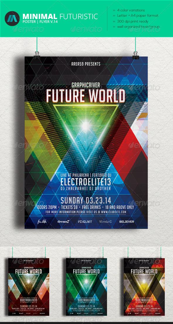 GraphicRiver Minimal Futuristic Poster Flyer V.14 7044270