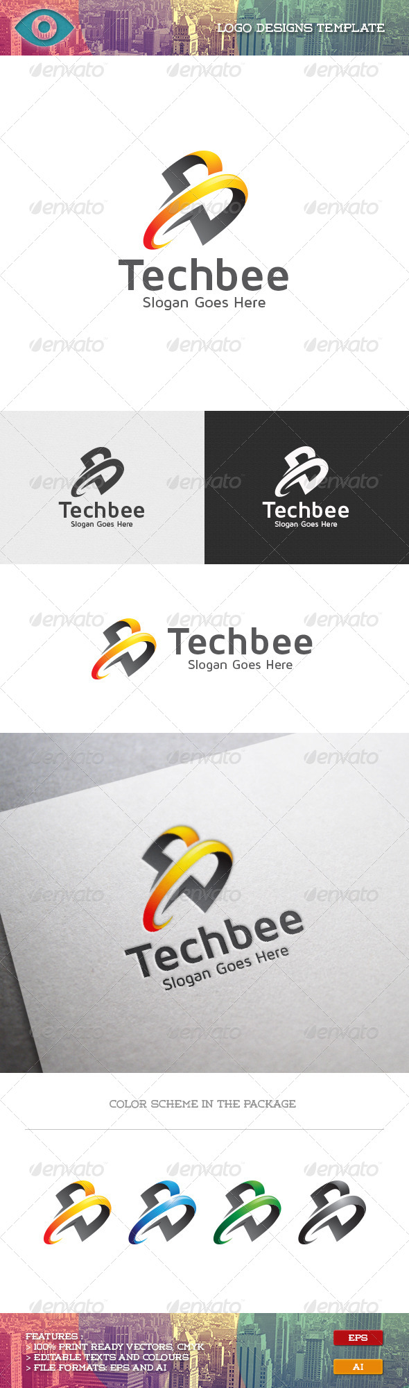 GraphicRiver B Letter Technology 7044532